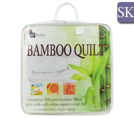 Bamboo Quilt 350GSM with Cotton Cover - Super King