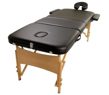 Portable Massage Table 3 Fold - Black