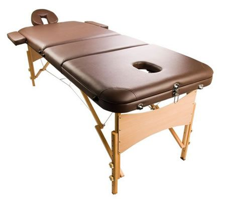 Portable Massage Table 3 Fold - Coffee
