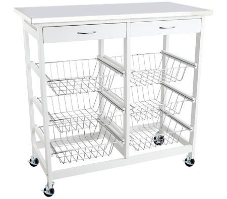 Wooden Kitchen Trolley With Stainless Steel Top Crazy Sales