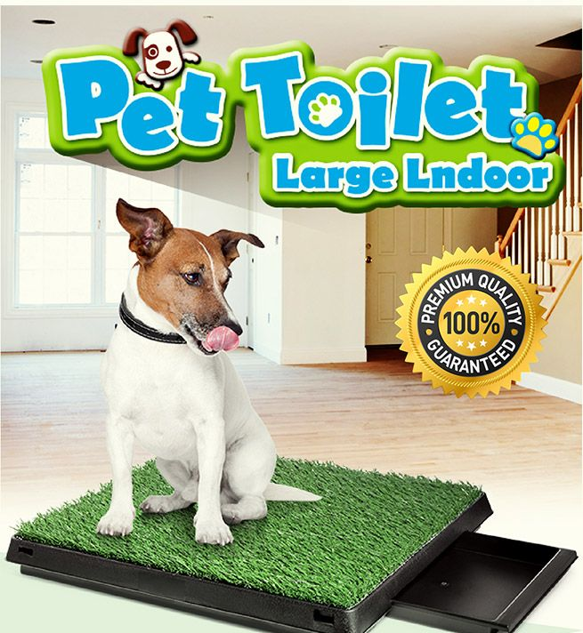 Large Indoor Pet Toilet With 2 Grass Mat Bestdeals Co Nz