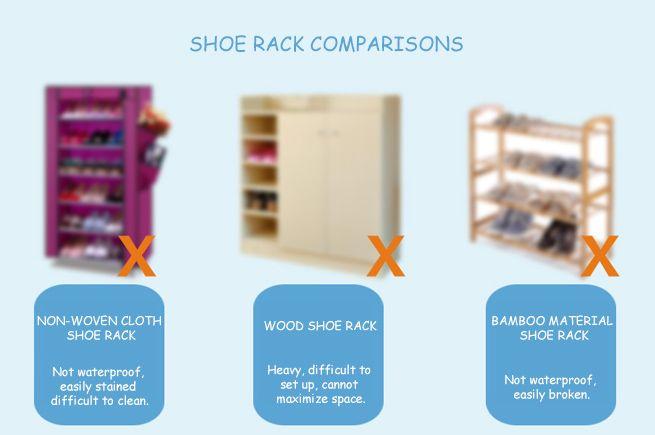 8 Compartment Shoe Cabinet Storage