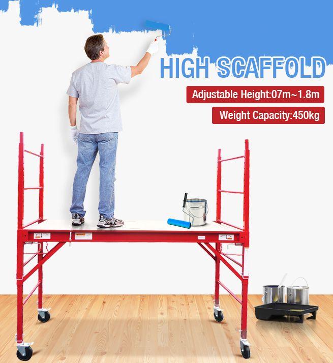 Red Safety Scaffold & Work Platform | Crazy Sales