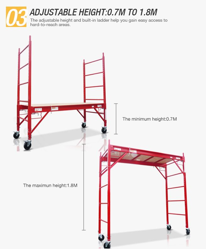 Red Safety Scaffold Amp Work Platform Crazy Sales