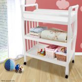 White Changing Table w/Changing Pad