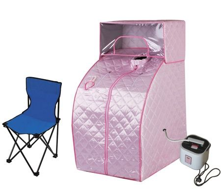 Portable Steam Sauna Tent w/  Cover Head