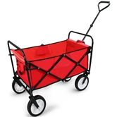 Red Folding Utility Cart
