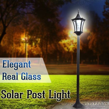 Deluxe Outdoor Solar-Powered Garden Lamp