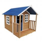 Outdoor Wooden Cubby Playhouse w/Veranda