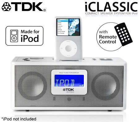 how to set time on tdk ipod dock