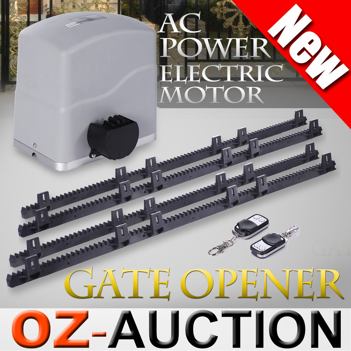 Automatic motor powered remote sliding gate opener for Sliding gate opener motor