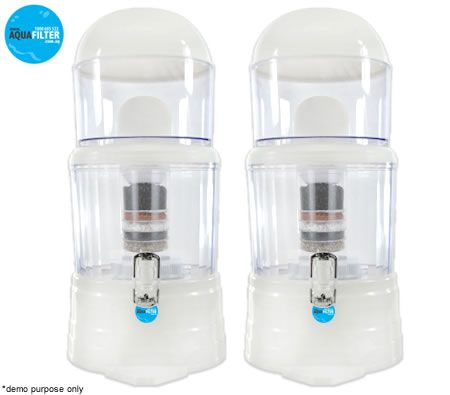 Free Shipping! Aqua Filter 14 L Bench Top Water Filter Purifier Dispenser - TWIN PACK