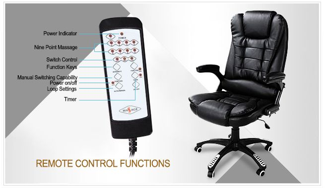massage chair au. black pu leather office massage chair au