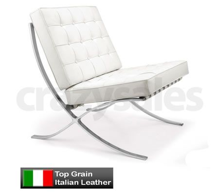 Barcelona Chair Mies Van Der Rohe Replica Premium Version White