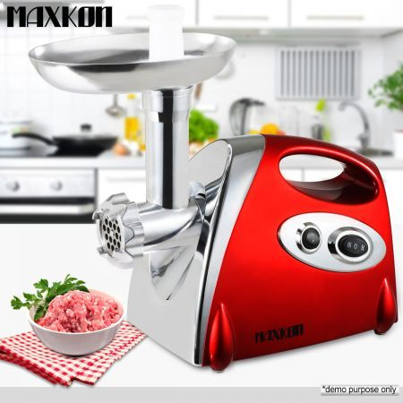 Maxkon 1600W Electric Meat Grinder Sausage Maker & Mincer Red