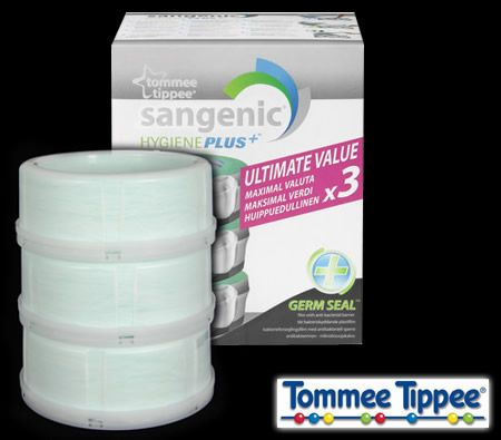 tommee tippee sangenic hygiene plus nappy disposal pack of. Black Bedroom Furniture Sets. Home Design Ideas