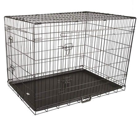 "42"" X-Large Collapsible Two Door Dog Crate"