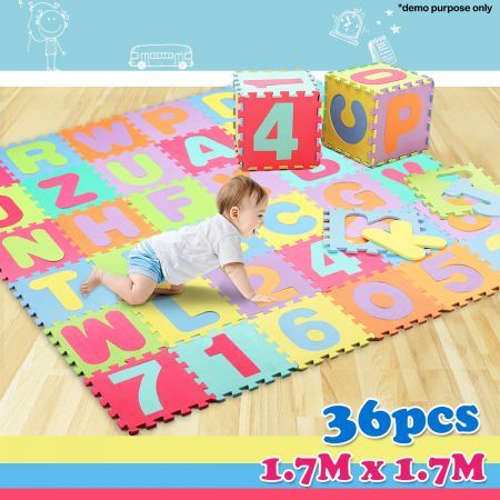 Kids Alphabet Amp Numbers Floor Puzzle Play Mat Crazy Sales