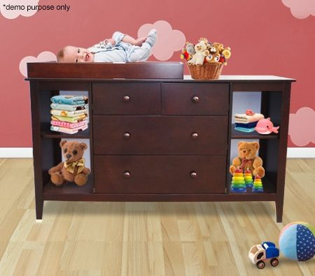 baby changing table cabinet with drawers walnut crazy sales. Black Bedroom Furniture Sets. Home Design Ideas