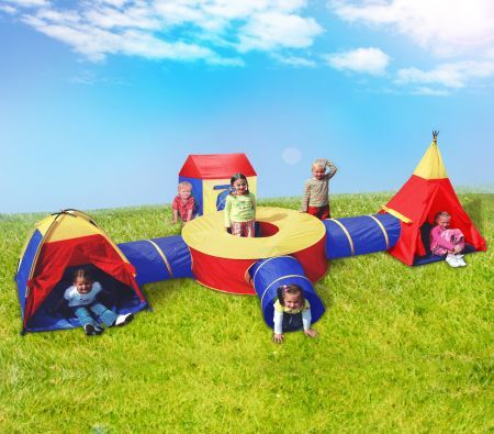 Deluxe Kids Teepee u0026 Tunnel Play Tent & Deluxe Kids Teepee u0026 Tunnel Play Tent | Crazy Sales