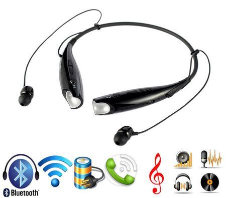 Wireless Bluetooth Neck-Strap Stereo Headset