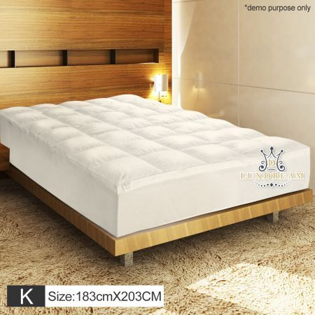 King Size Luxury Pillowtop Mattress Topper Protector 1000