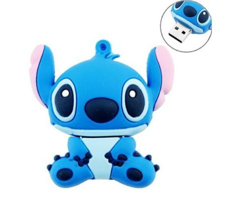 8GB Cute Cartoon Female Stitch Shape USB Flash Drive Memory Stick