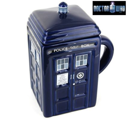 Doctor Who TARDIS Mug w/Removable Lid