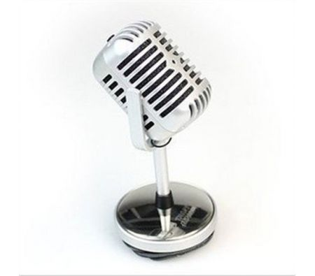 Vintage Style Mini Microphone for Internet Voice Chat/video/skype/msn/game/language.
