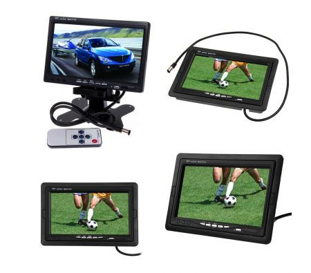 7inch Tft Lcd Color Car Rear View Monitor For Dvd Vcr Camera Remote Control Crazy Sales
