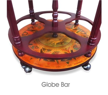 deluxe antique globe bar cabinet drink trolley