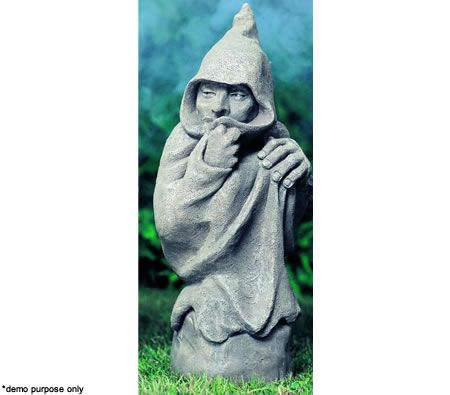 Menduni Garden Artistry Garden Statue Display Mystical Creatures Figurine Mini Warlock Sculpture