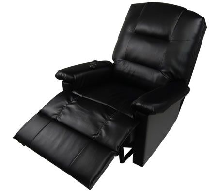 Delicieux Comfortable PU Leather Massage Lounge Chair Recliner With Remote Control    Black