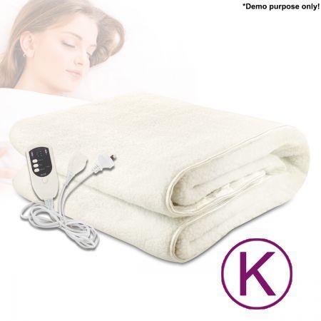 fitted electric heated fleece blanket king size crazy sales. Black Bedroom Furniture Sets. Home Design Ideas