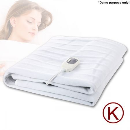Fitted Heated Electric Blanket with Dual Control-King Size