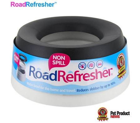 Road Refresher Non-Spill Water Bowl Large - Grey