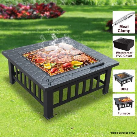All In One BBQ Pit Table Low