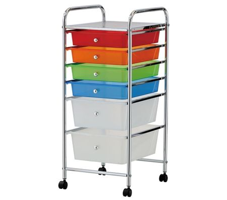 plastic storage trolley with drawers 3