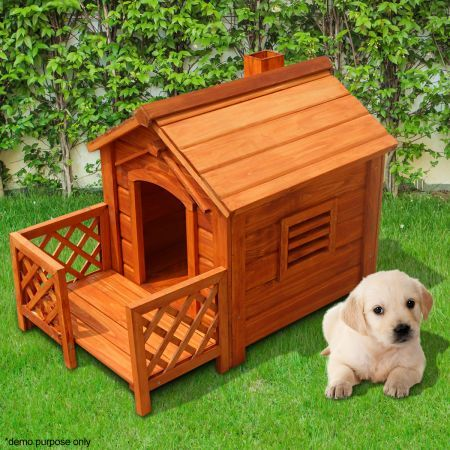 indoor outdoor wooden dog kennel house with porch fir wood crazy sales. Black Bedroom Furniture Sets. Home Design Ideas