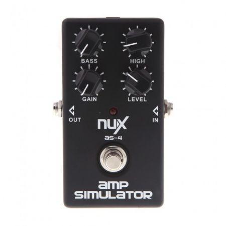nux as 4 amplifier simulator guitar electric effect pedal true bypass black crazy sales. Black Bedroom Furniture Sets. Home Design Ideas
