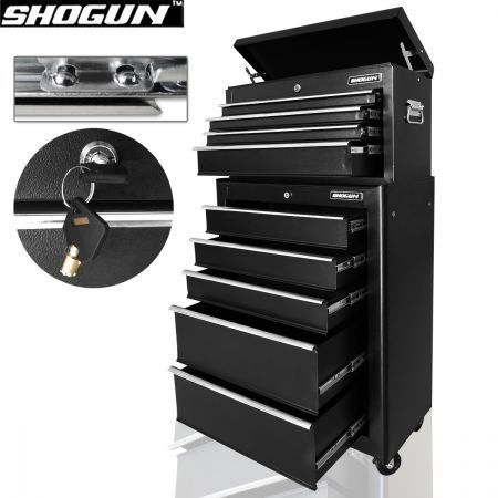 9 Drawer Lockable Roller Cabinet Tool Box