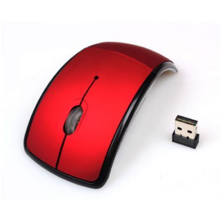 LUD USB Wireless 2.4GHz Arc Folding Mouse For Laptop Tablet pc