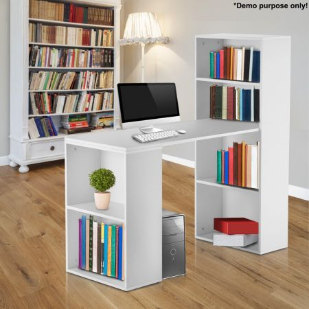 white computer desk with bookshelf crazy sales