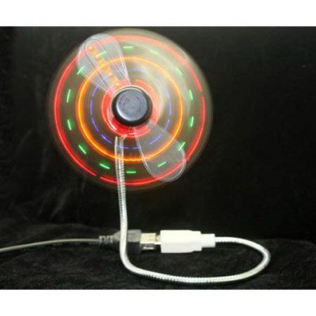 USB Fan with LED Light