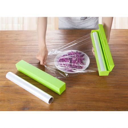 Plastic Food Wrap Dispenser Aluminum Foil Wax Paper Cut