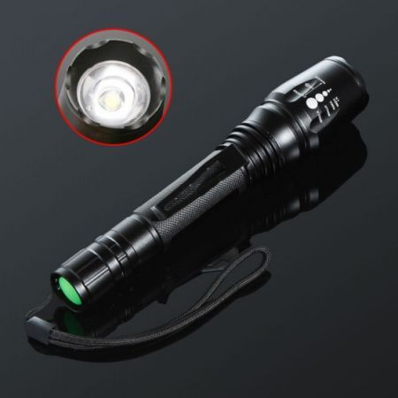 1600LM Adjustable Focus Beam CREE LED Flashlight Torch 5 Mode