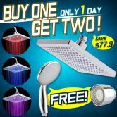 Buy 1 get 2 free -Only 1 day, save $87.9!!! Rainfall shower head 3 color LED temperature sensing + Bonus!!!