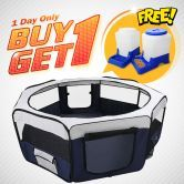Buy 1 get 1 free!!Save $44.95!!!Eight Panel Portable Pet Kennel+ Automatic Pet Feeder!!