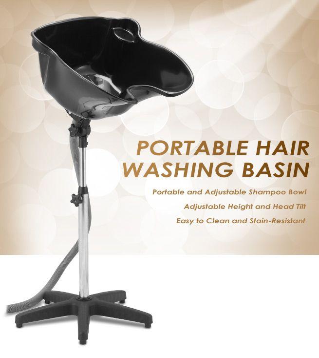 Large mobile portable salon hair washing basin high gloss for Wash hair salon