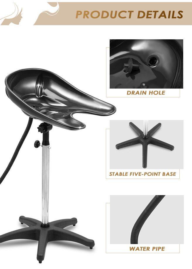 New high gloss adjustable medium mobile salon hair washing for Salon basins for sale
